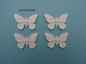 Decorative resin furniture mouldings appliques onlays butterflys x 4 B91