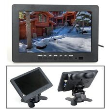 "7"" TFT LCD HD Monitor Display 16:9 VGA BNC Video for PC CCTV Camera DVD Security"