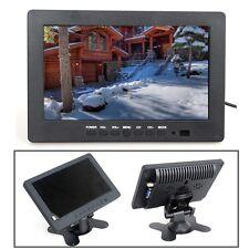 """7"""" TFT LCD Monitor 1024*600 250cd/m² VGA BNC Video Audio For PC,CCTV Cam,VCD,D4"""