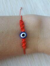 Pulsera roja ajustable ojito de la suerte mal de ojo