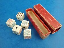 Vintage Game POKER DICE In Original Box