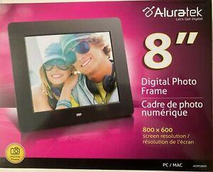 BRAND NEW Aluratek ADPF08SF 8 inch LCD Digital Photo Frame-Black Free Shipping