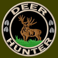 "DEER HUNTER EMBROIDERED PATCH ~3"" BORDADO PARCHE AUFNÄHER OUTDOOR HUNTING ANTLER"