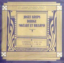 Josef Krips Dirige Live Mozart Symphony #40  Brahms Sym #4 CD Orch Nat De France