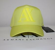 Armani Exchange Men Rubber Logo Baseball cap one size new with tags