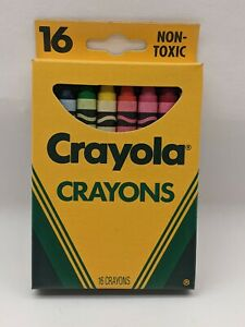 1994 Crayola Classic Non-Toxic Crayons, School Supplies, 16 Count Brand New!!