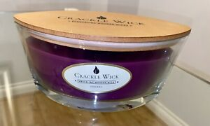 Crackle Wick Large Jar candle with 2 wood wick Cherry 485g