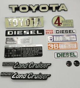 Toyota Land Cruiser Fj 40 B engine Emblems And Decals 4 speed