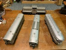 Lionel Postwar - 629 Burlington 44 Ton Switcher and 2432, 2434, 2436 Passenger