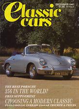Classic Cars Dec 1987 -  Porsche 356B, Cadillac V16,  Ferrari 308 GTB,  Jaguar.