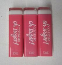 3 tube lot COVERGIRL OH SUGAR VITAMIN INFUSED LIP BALM #5 SPICE unsealed flaw