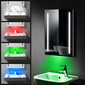 LED Bathroom Mirror with RGB Light Shaver Socket / Demister / Touch Switch