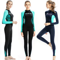 Diving Wetsuit Women Stretch Swimming Surf Snorkeling Suits Jumpsuit Breathable