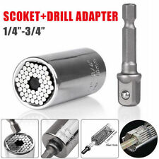 Universal Magic Connecting Gator Socket Wrench Sleeve Grip Drill Adapter Tool