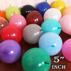 """Assorted 5""""Inch  Latex Linking Balloons- Pack of 10-200 balloons - Link Balloon"""