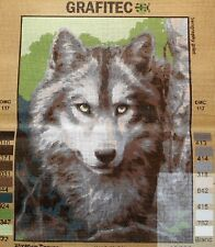 GREY WOLF - Tapestry/Needlepoint to Stitch (NEW) by GRAFITEC