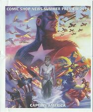 COMIC SHOP NEWS CSN SUMMER PREVIEW 2014 PROMO GIVEAWAY CAPTAIN AMERICA