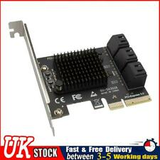 More details for sata pcie adapter 6 ports sata iii to pci express 3.0 x4 expansion card ✧