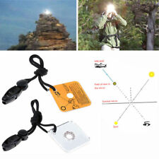 Outdoor Rescue Emergency Camping Survival Reflective Signal Mirror+Whistle