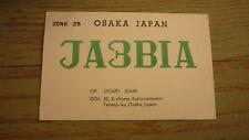 OLD JAPANESE HAM QSL RADIO CARD, 1962 OSAKA JAPAN, JA3BIA