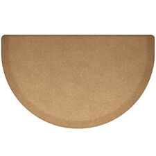 "WellnessMats Studio Semi-Circle Anti-Fatigue Mat Granite Gold, 36"" X 22"""