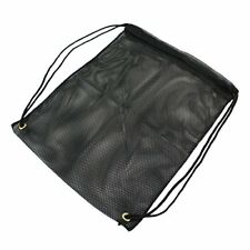 Mesh Backpack Bag Polyester  550 Paracord Drawstrings 15 inch x 19 Black
