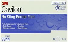 3M Cavilon No Sting Barrier Film 1 mL 3344 Wipe Sterile Alcohol Free Box of 30