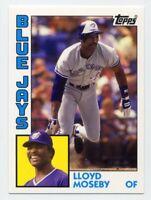 2013 Topps Archives LLOYD MOSEBY Rare 1984 REPRINT CARD BACK Toronto Blue Jays