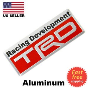 3D Metal TRD Emblem Sticker Decal Toyota Racing Development Tailgate Badge