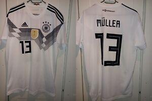 Germany 2018/2019 HOME FOOTBALL SHIRT JERSEY MULLER