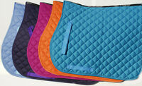 Rhinegold Polyester Cotton Quilted Horse or Pony Saddle Cloth All Colours