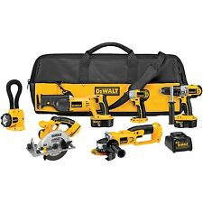 Dewalt Set Impact Driver Cordless Tool Combo Kit 18V Saw Power Floodlight New