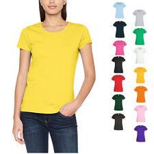 Donna Fruit of the Loom T-Shirt Valueweight S M L XL XXL XXXL 3XL 4XL 5XL