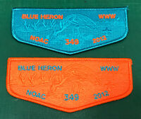 USA BOY SCOUTS OF AMERICA - OA BLUE HERON LODGE 349 NOAC 2012 SCOUT FLAP PATCH