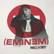 Eminem XL White T-Shirt Rap Hip Hop Real Slim Shady Detroit Recovery 8 Mile
