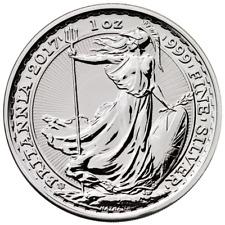 2017 U.K. 2 Pound Silver Britannia 20th Anniversary .999 1 oz Trident Privy BU