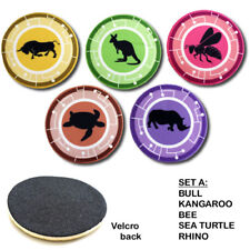 """WILD KRATTS CREATURE POWER DISKS - SET OF FIVE 4"""" DISCS FOR SUITS -A"""