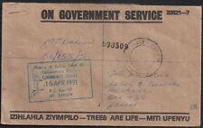 Rhodesia & Nyasaland 1991 ON GOVERNMENT SERVICE MOUNT DARWIN 16 04 91 to HARARE