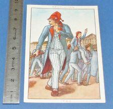 CHROMO 1950 GRANDE IMAGE BON-POINT BLEDINE COSTUME MASCULIN REVOLUTION 1792