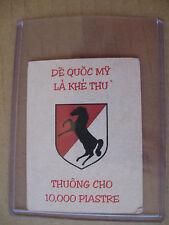 VIETNAM NOVELTY PROPAGANDA CARD - VIET CONG Giôn-Xơn - 11th CAVALRY - De Quoc My