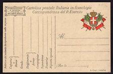 CARTOLINA Militare in franchigia 1917 S. Lapi - Arpino NUOVA (FILu)