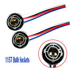 2pcs 1157 BAY15D Turn Light Brake Bulb Sockets Wire Harness Plug For LED Bulbs