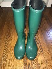 Women's UGG Green Rain Boots - Rubber - Size 8