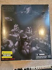"STAR WARS BLACK SERIES 6"" CLONE TROOPER 4 PACK ENTERTAINMENT EARTH EXCLUSIVE NEW"