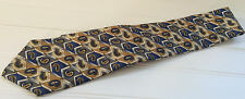 Personal Choice 100% Silk Neck Tie in Navy/Gold/Olive