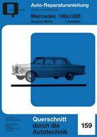 Mercedes 190c 200 Vergaser Reparaturanleitung Reparatur-Handbuch Reparaturbuch