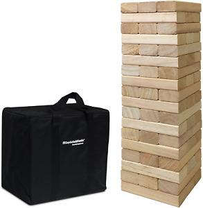 Huge Fun Jenga Game Tumble Tower Toppling Blocks Game 54 Piece with Storage Bag