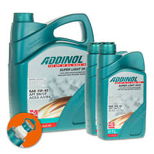 7 (5+2x1) Liter ADDINOL SAE 5W-40 Super Light 0540 Hochleistungs-Leichtlauföl