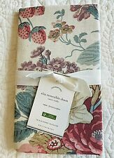 NWT Pottery Barn Elia Floral Reversible Cotton/Linen Blend Euro Pillow Sham