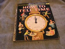 How to Tell Time Little Golden Activity Book 1957